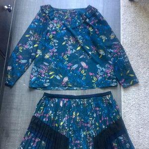Banana Republic Skirt & Blouse